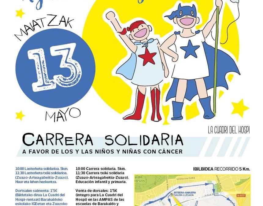 Carrera solidaria a favor de LA CUADRI DEL HOSPI. ANIMAROS Y PARTICIPAR!