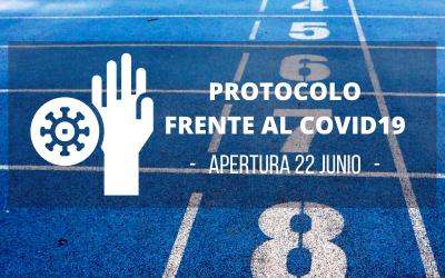 Apertura de pistas el 22 de junio. Protocolo frente al covid-19.